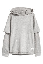 Hooded top - Grey marl - Kids | H&M 2